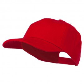 6 Panel Unstructured Pro Style Cap - Red