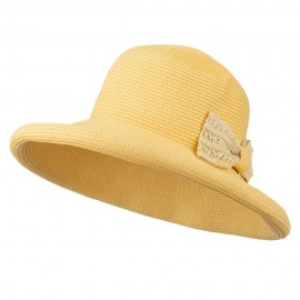 Paper Braid Roll Up Brim Sun Hat