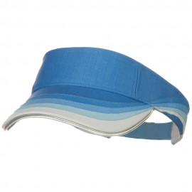 3 Panel Wave Cotton Piping Visor - Blue