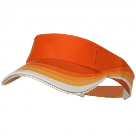 3 Panel Wave Cotton Piping Visor - Orange