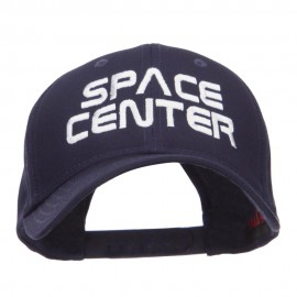 Space Center Embroidered Cotton Twill Cap - Navy