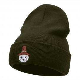 Pioneer Cat Hat Embroidered Long Knitted Beanie