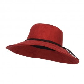 Wide Brim Poly Suede Hat