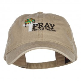 Pray for Our Troops Embroidered Washed Cap