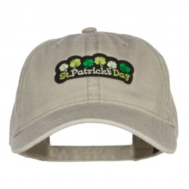 St Patrick's Day Clovers Patched Washed Cap