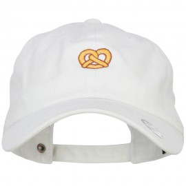 Mini Pretzel Embroidered Unstructured Cap