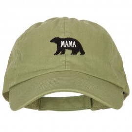 Mama Bear Embroidered Low Profile Cotton Cap