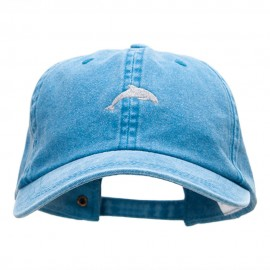 The Dolphin Embroidered Pigment Dyed Wash Caps