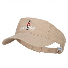 Queen Guard London Embroidered Pro Style Cotton Washed Visor