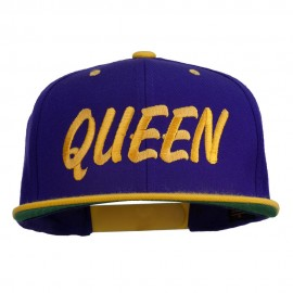 Queen Embroidered Two Tone Snapback Cap