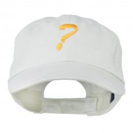 Question Mark Embroidered Cap