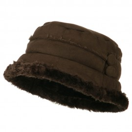 Women's Faux Suede Bucket Hat
