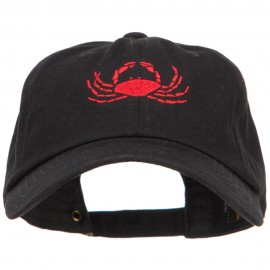 Crab Embroidered Unconstructed Cap