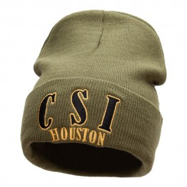 CSI Houston Embroidered 12 Inch Long Knitted Beanie
