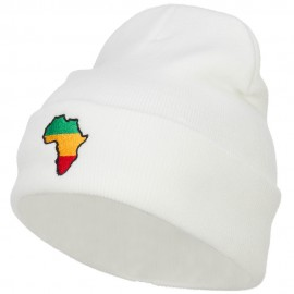 Rasta Africa Map Embroidered Long Beanie