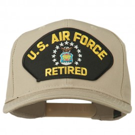 US Air Force Retired Military Patched Cap - Khaki