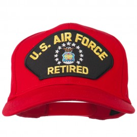 US Air Force Retired Military Patched Cap - Red