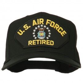 US Air Force Retired Military Patched Cap - Black