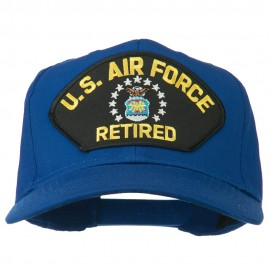 US Air Force Retired Military Patched Cap - Royal