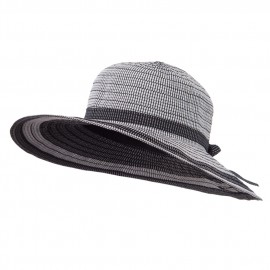 Ladies' Ribbon Blend Flat Brim Hat