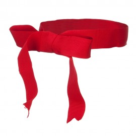 Ribbon Bow Hat Band - Red
