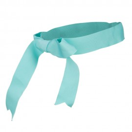 Ribbon Bow Hat Band - Teal