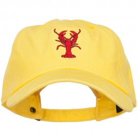 Lobster Embroidered Unconstructed Cap