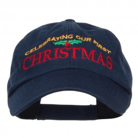 Celebrating First Christmas Embroidered Low Cap