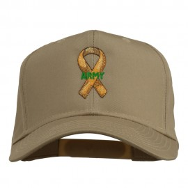 Army Support Ribbon Embroidered Cap