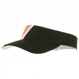 Rainbow Cotton Twill Visor-Black