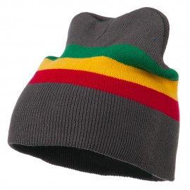Rasta Center Striped Beanie