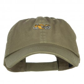 Mini Motorcycle Embroidered Low Cap