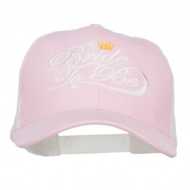 Bride To Be Embroidered Cotton Trucker Cap