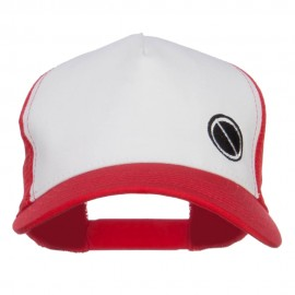 Poke Monster Red Logo Embroidered Mesh Cap