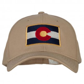 Colorado Flag Embroidered Big Size Stretchable Fitted Cap
