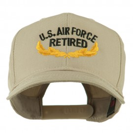 US Air Force Retired Emblem Embroidered Cap - Khaki