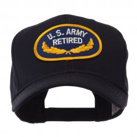 Retired Embroidered Military Patch Cap - Army