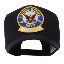 Retired Embroidered Military Patch Cap - Navy Retired