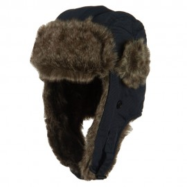 Boy's Ripstop Faux Fur Trooper Hat