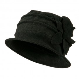Woman Ribbon Fleece Cap