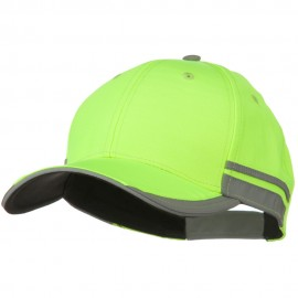 Reflective Fabric Accents Safety Cap - Yellow