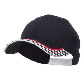 Racing Flag Print Cotton Cap