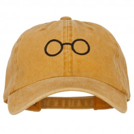 Perfect Round Eyeglasses Embroidered Unstructured Cotton Cap