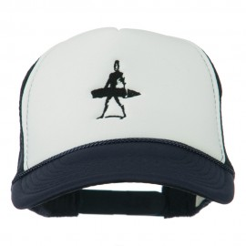 Surf Man Embroidered Foam Mesh Back Cap