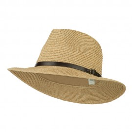 Men's Large Brim with Belt Fedora
