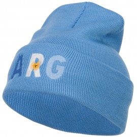 Argentina ARG Flag Embroidered Long Beanie