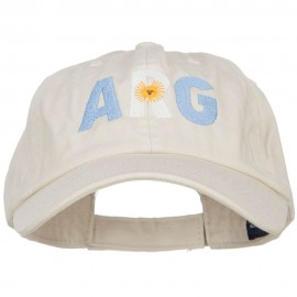Argentina Embroidered Low Profile Cap