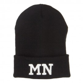 MN Minnesota State Embroidered Long Beanie