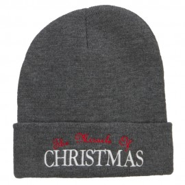 Miracle of Christmas Embroidered Long Beanie