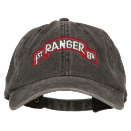 1st Ranger Bn Embroidered Washed Cotton Twill Cap